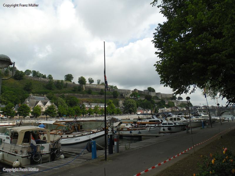 Die Festungsanlage in Namur